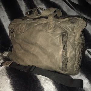 BNWT All Saints Washed Leather Holdall